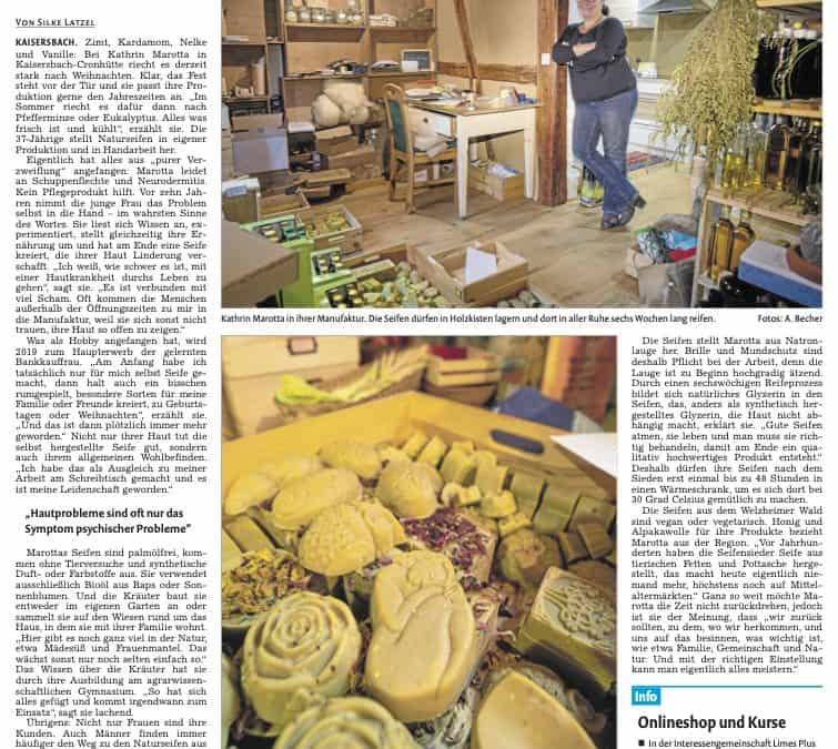 Bericht in der Backnanger Kreiszeitung