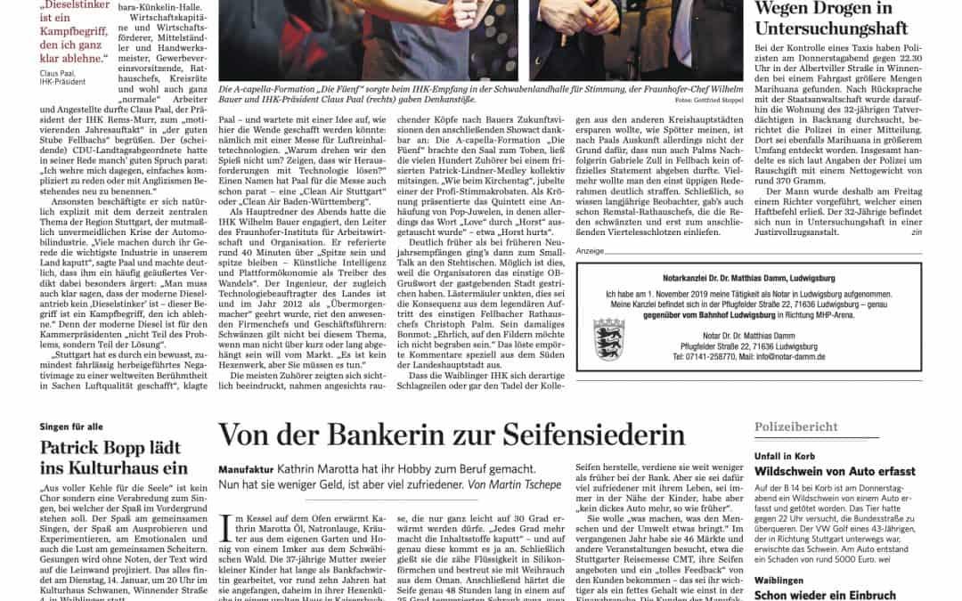 Bericht in Stuttgarter Zeitung