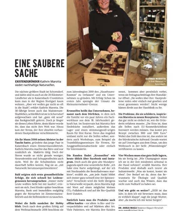 Bericht im IHK-Magazin Wirtschaft
